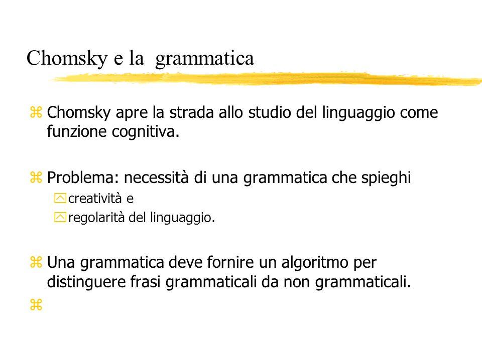 Chomsky e la grammatica