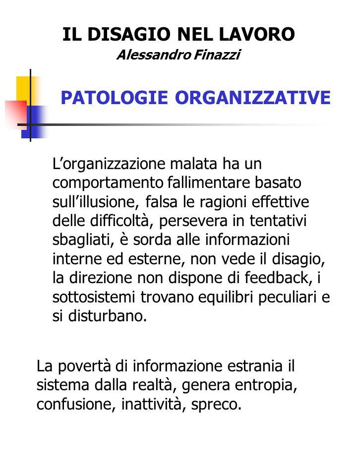 PATOLOGIE ORGANIZZATIVE