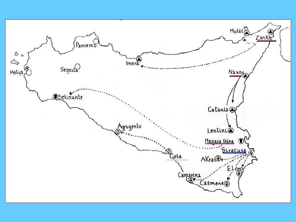 Le colonie della Sicilia; si rimanda all'abstract su Tucidide nel sito ARIEL