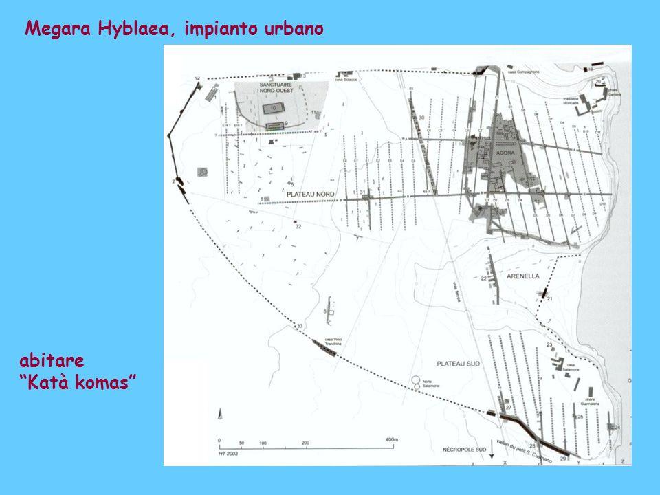 Megara Hyblaea, impianto urbano