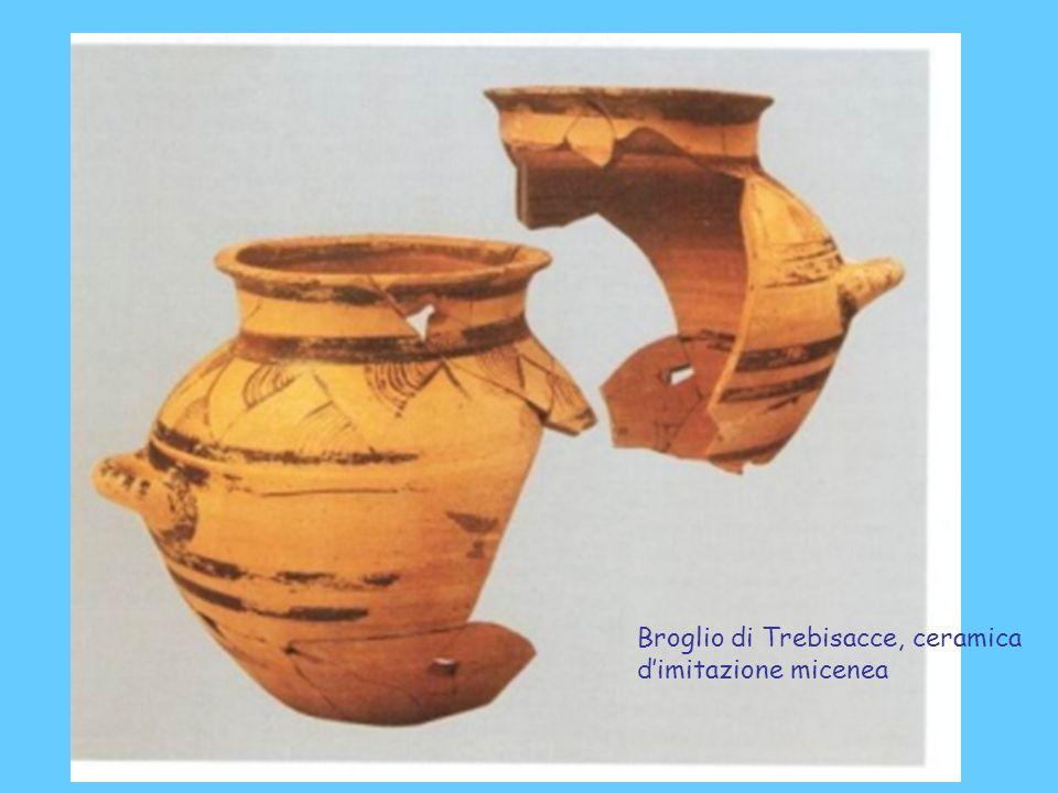 Broglio di Trebisacce, ceramica d'imitazione micenea