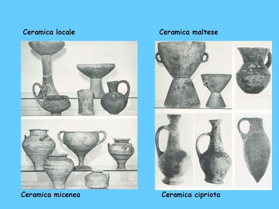 Ceramica locale Ceramica maltese Ceramica micenea Ceramica cipriota