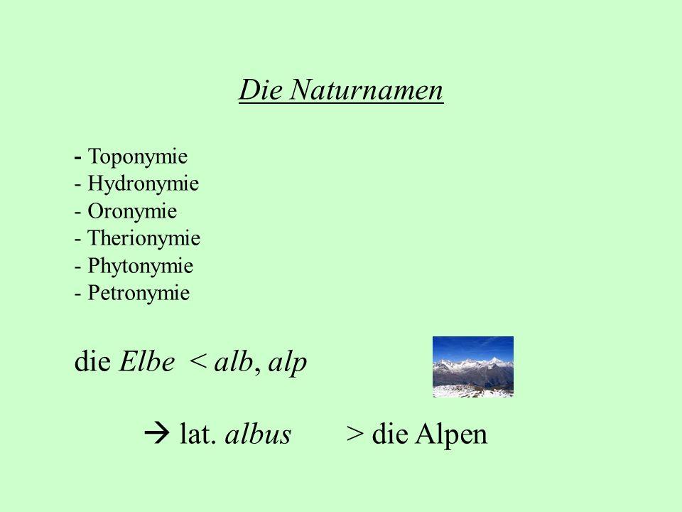  lat. albus > die Alpen