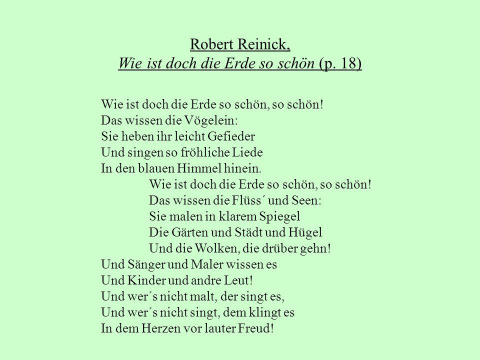 Robert Reinick, Wie ist doch die Erde so schön (p. 18)