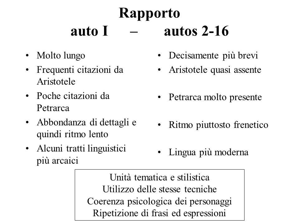 Rapporto auto I – autos 2-16