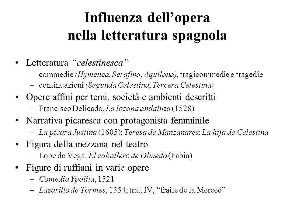 Influenza dell'opera nella letteratura spagnola