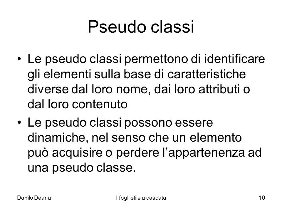 Pseudo classi