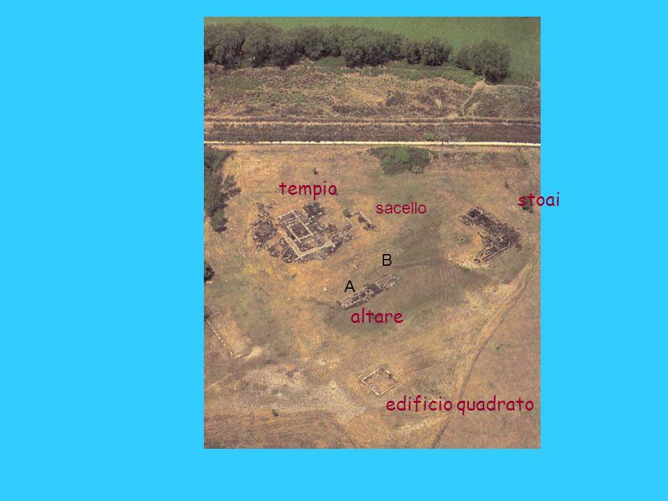 tempio stoai altare edificio quadrato sacello B A