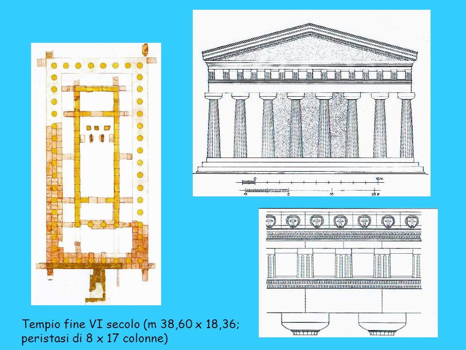 Tempio fine VI secolo (m 38,60 x 18,36;