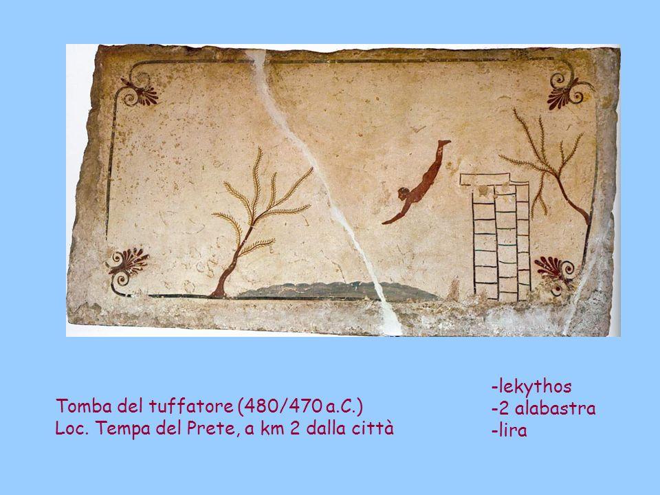 -lekythos -2 alabastra. -lira. Tomba del tuffatore (480/470 a.C.) Loc.