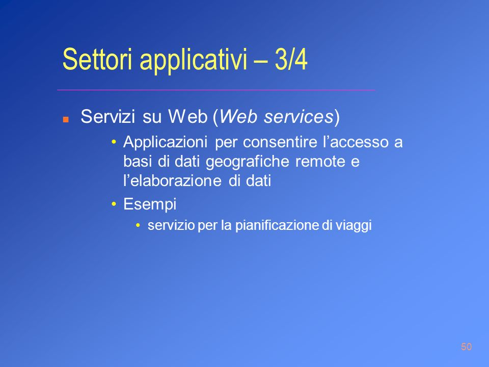 Settori applicativi – 3/4