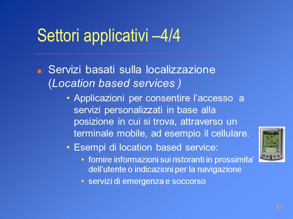 Settori applicativi –4/4