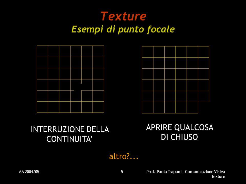 Texture Esempi di punto focale