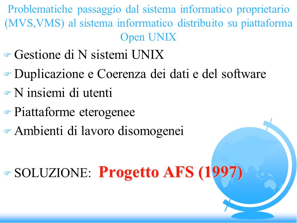 Gestione di N sistemi UNIX