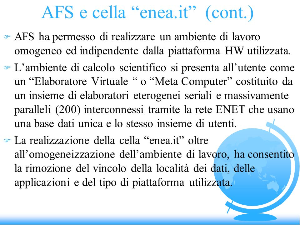 AFS e cella enea.it (cont.)