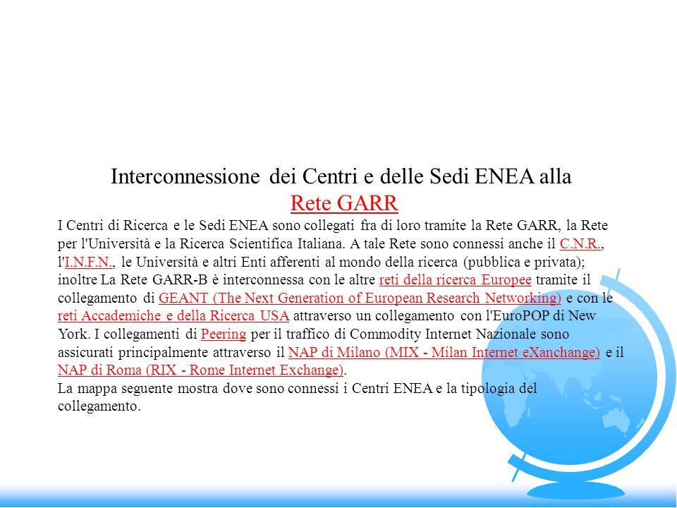 Interconnessione dei Centri e delle Sedi ENEA alla