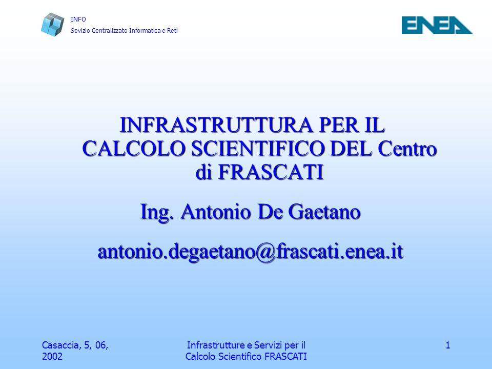 Ing. Antonio De Gaetano antonio.degaetano@frascati.enea.it