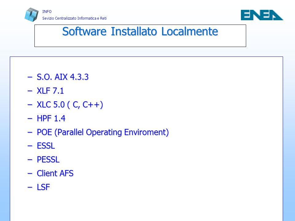 Software Installato Localmente