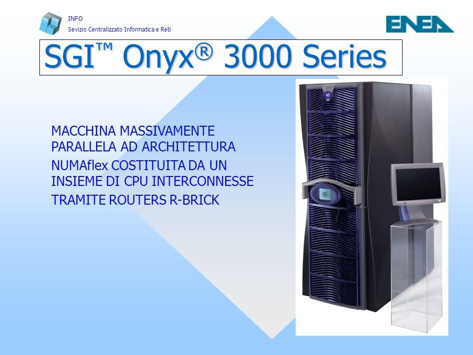 SGI™ Onyx® 3000 Series MACCHINA MASSIVAMENTE PARALLELA AD ARCHITETTURA