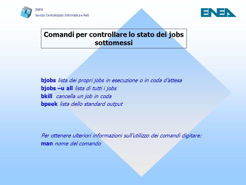 Comandi per controllare lo stato dei jobs sottomessi