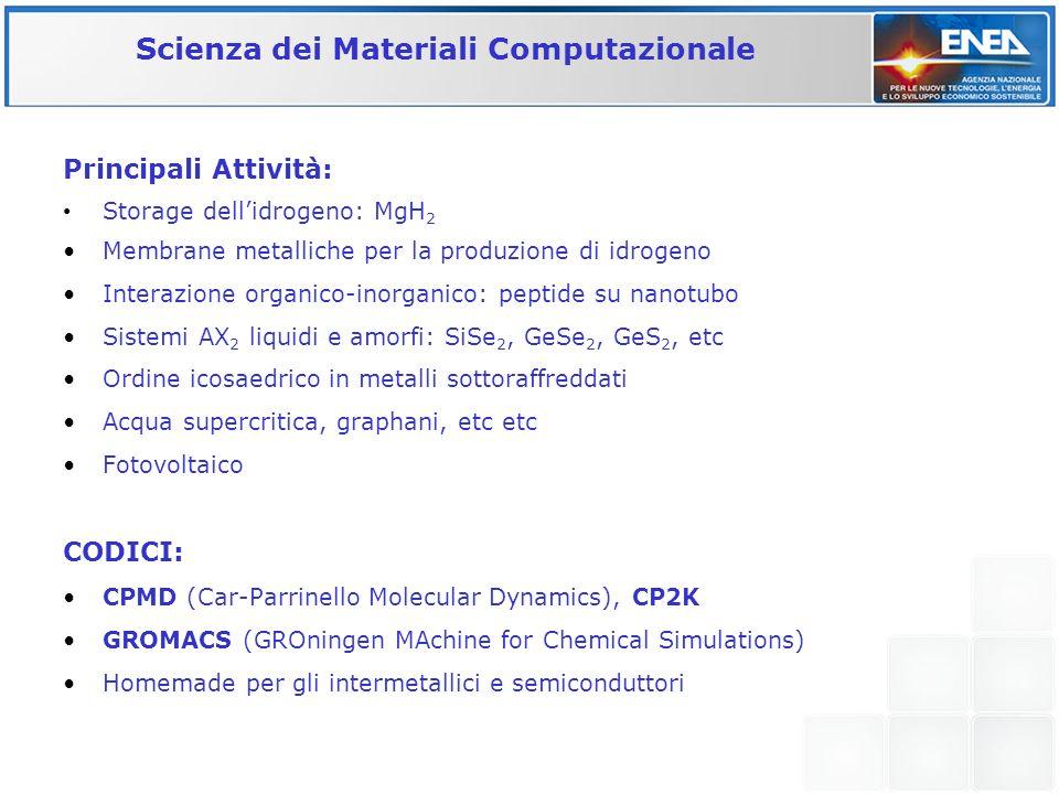 Scienza dei Materiali Computazionale