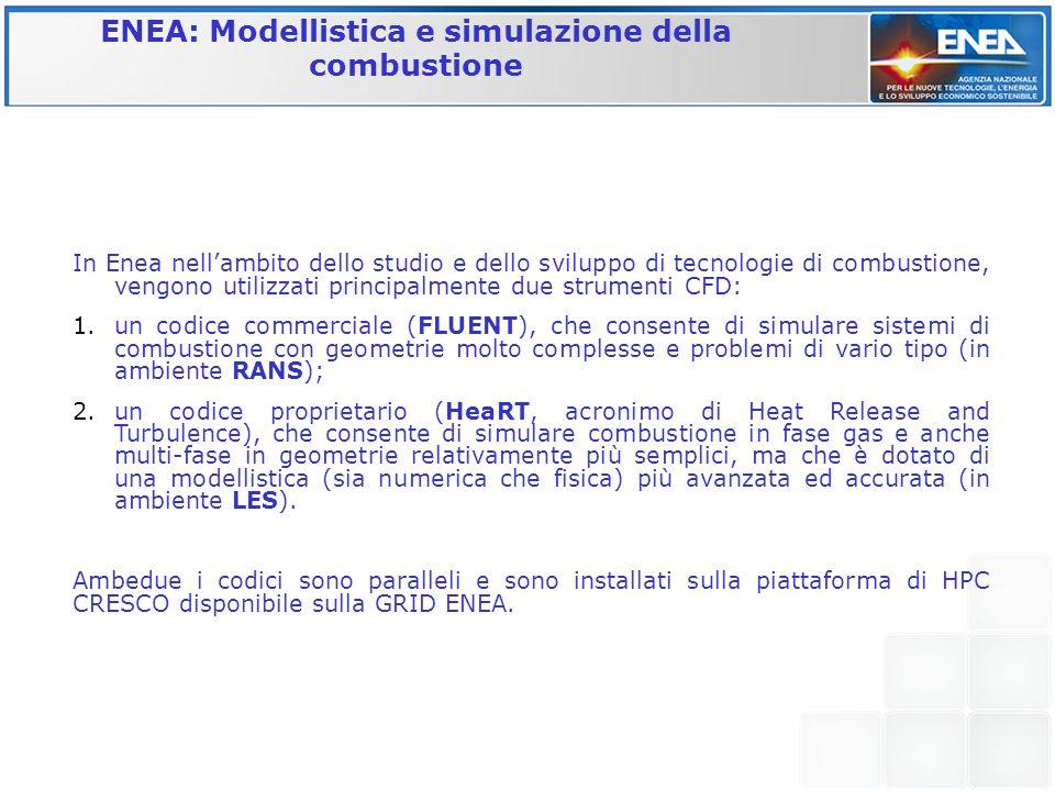 ENEA: Modellistica e simulazione della combustione