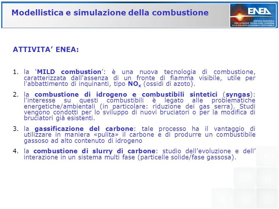 Modellistica e simulazione della combustione