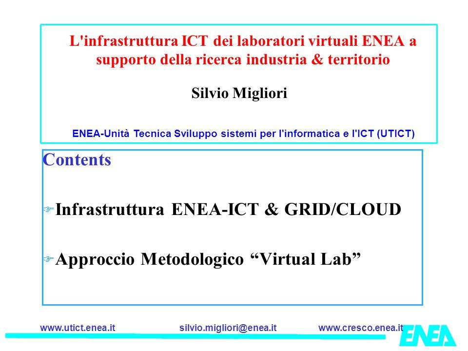 ENEA-Unità Tecnica Sviluppo sistemi per l informatica e l ICT (UTICT)