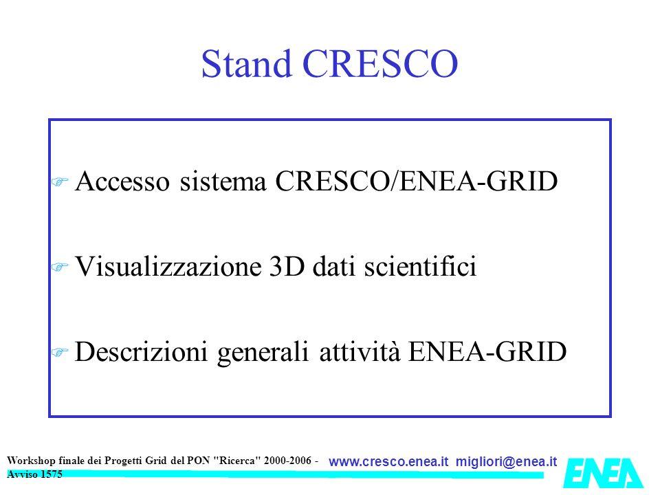 Stand CRESCO Accesso sistema CRESCO/ENEA-GRID