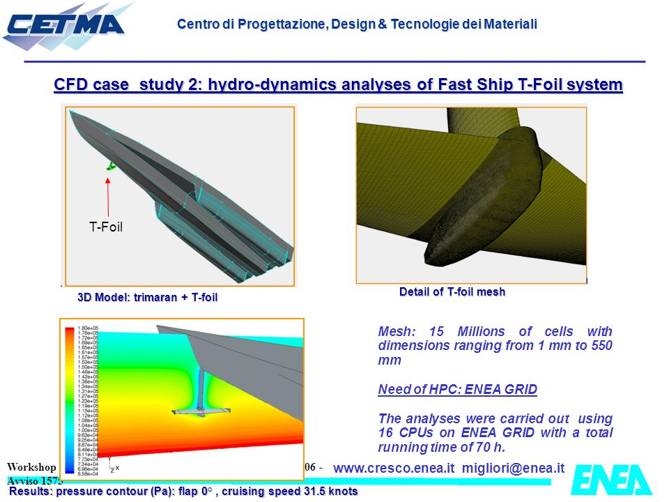 CFD case study 2: hydro-dynamics analyses of Fast Ship T-Foil system