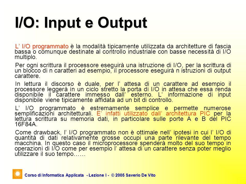 I/O: Input e Output