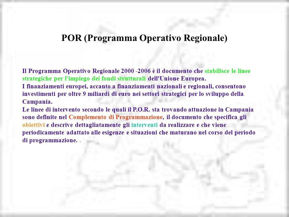 POR (Programma Operativo Regionale)