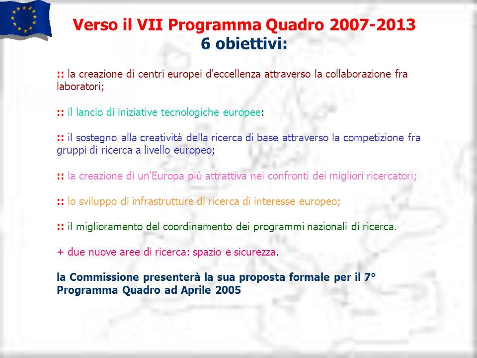 Verso il VII Programma Quadro 2007-2013