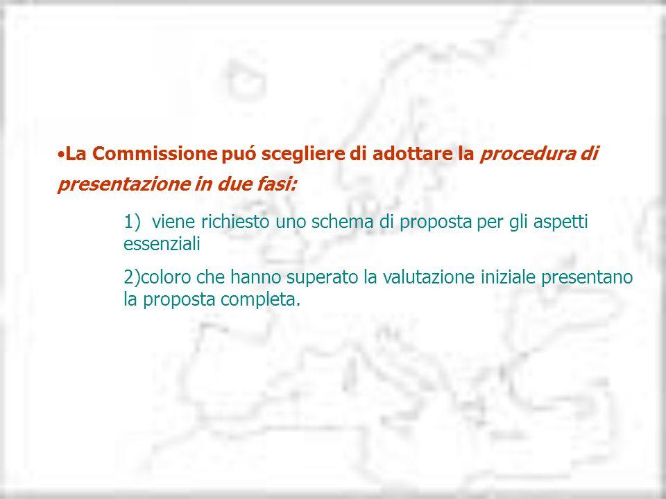 La Commissione puó scegliere di adottare la procedura di presentazione in due fasi: