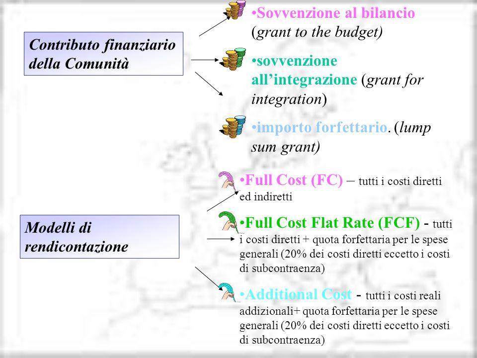 Sovvenzione al bilancio (grant to the budget)