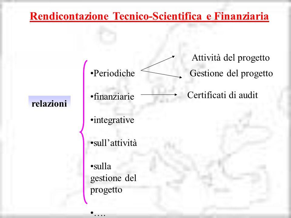 Rendicontazione Tecnico-Scientifica e Finanziaria
