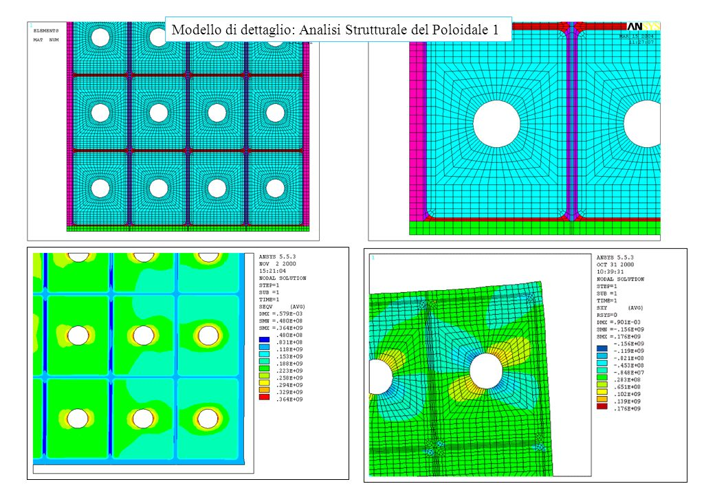Modello di dettaglio: Analisi Strutturale del Poloidale 1