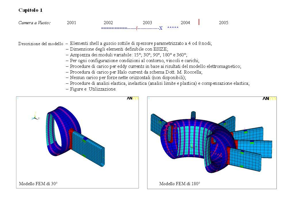 Capitolo 1 (CV) Modello FEM di 30° Modello FEM di 180°