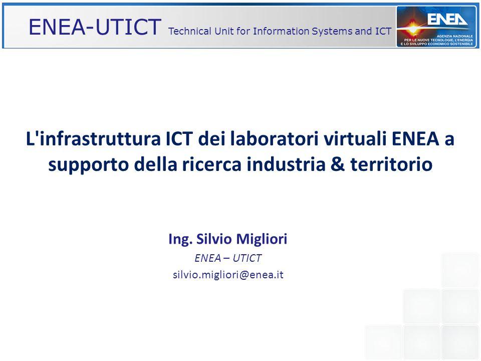 Ing. Silvio Migliori ENEA – UTICT silvio.migliori@enea.it
