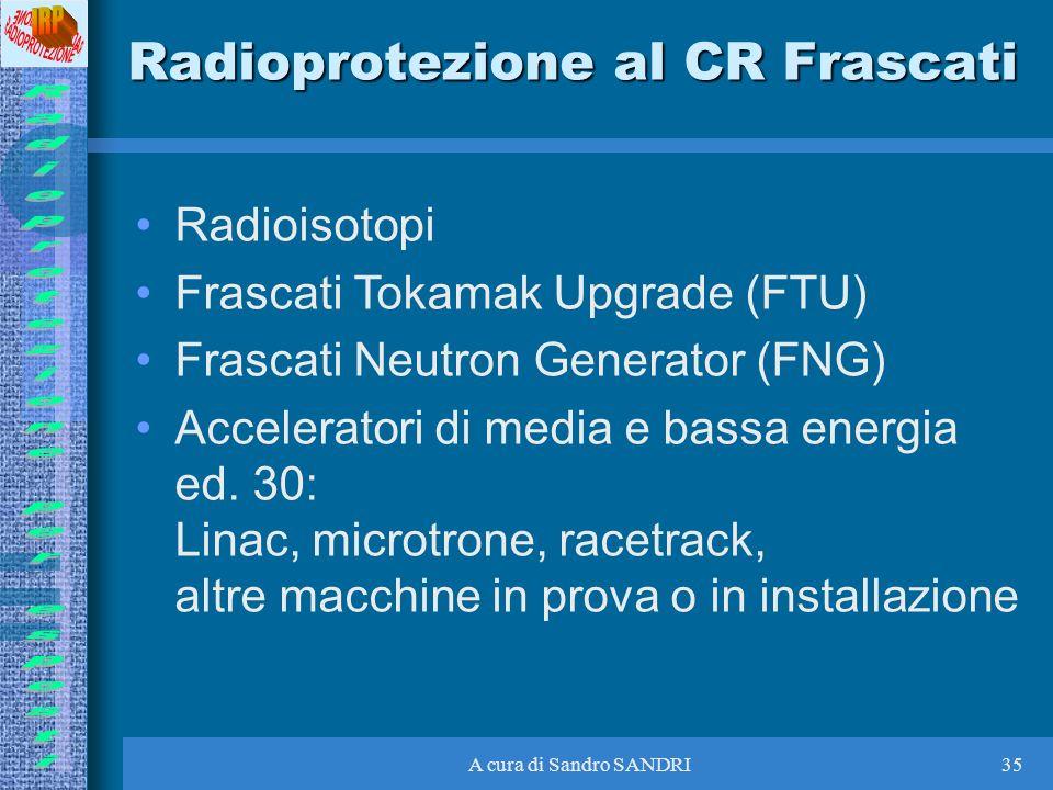 Radioprotezione al CR Frascati