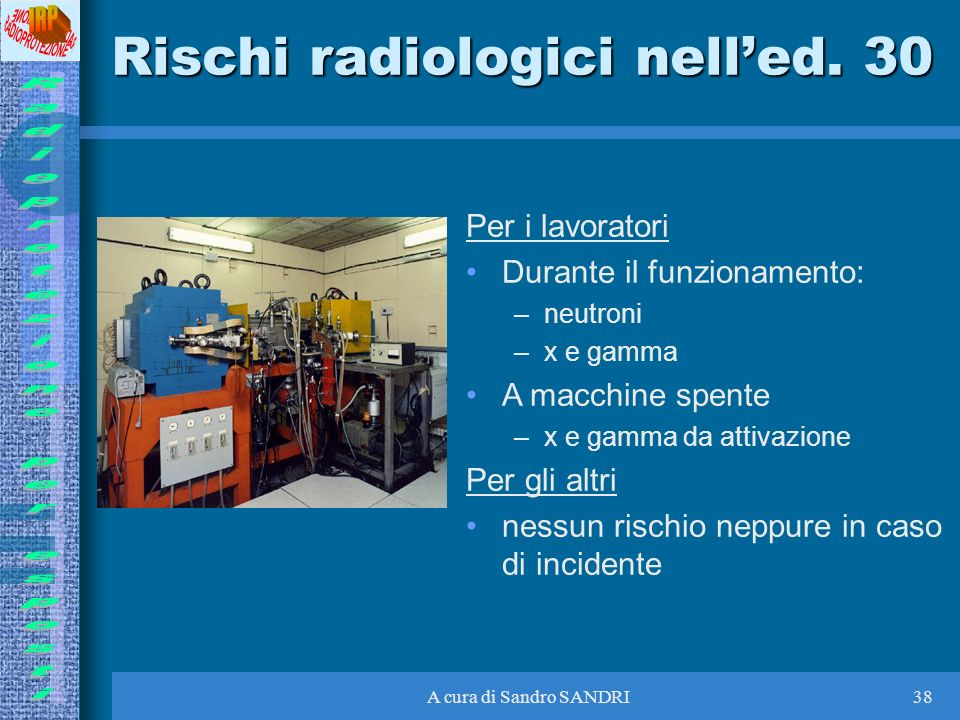 Rischi radiologici nell'ed. 30