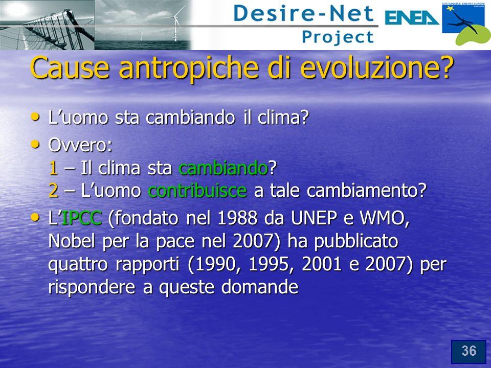Cause antropiche di evoluzione