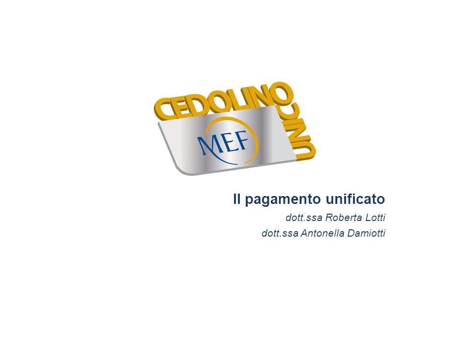 Il pagamento unificato dott. ssa Roberta Lotti dott