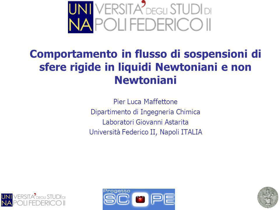 Comportamento in flusso di sospensioni di sfere rigide in liquidi Newtoniani e non Newtoniani