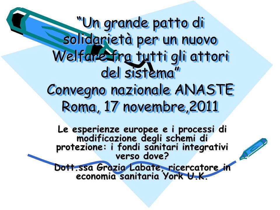 Dott.ssa Grazia Labate, ricercatore in economia sanitaria York U.K.