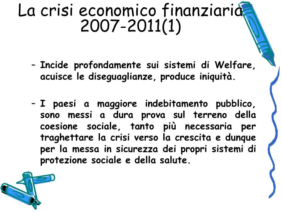 La crisi economico finanziaria 2007-2011(1)