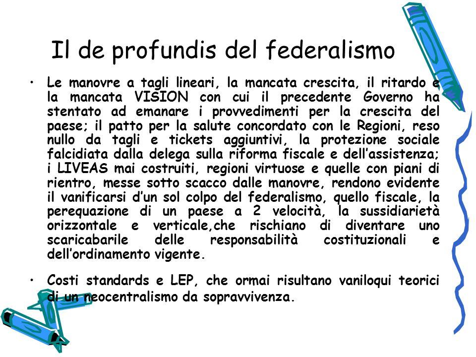 Il de profundis del federalismo