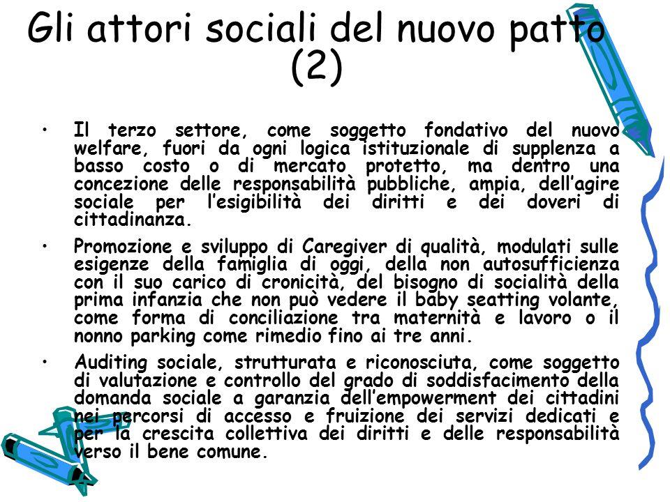 Gli attori sociali del nuovo patto (2)