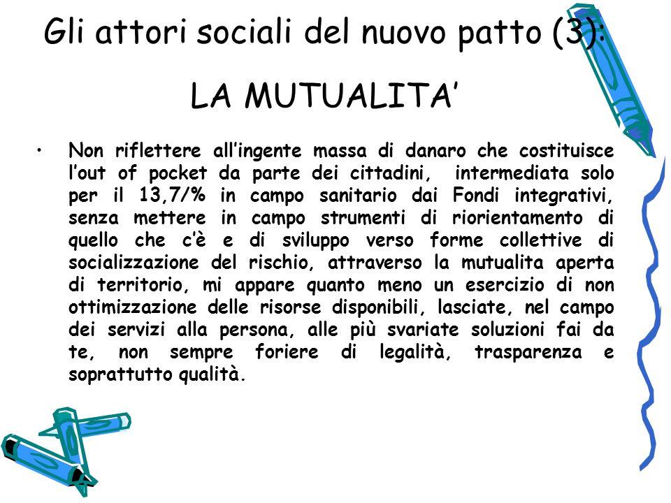 Gli attori sociali del nuovo patto (3): LA MUTUALITA'