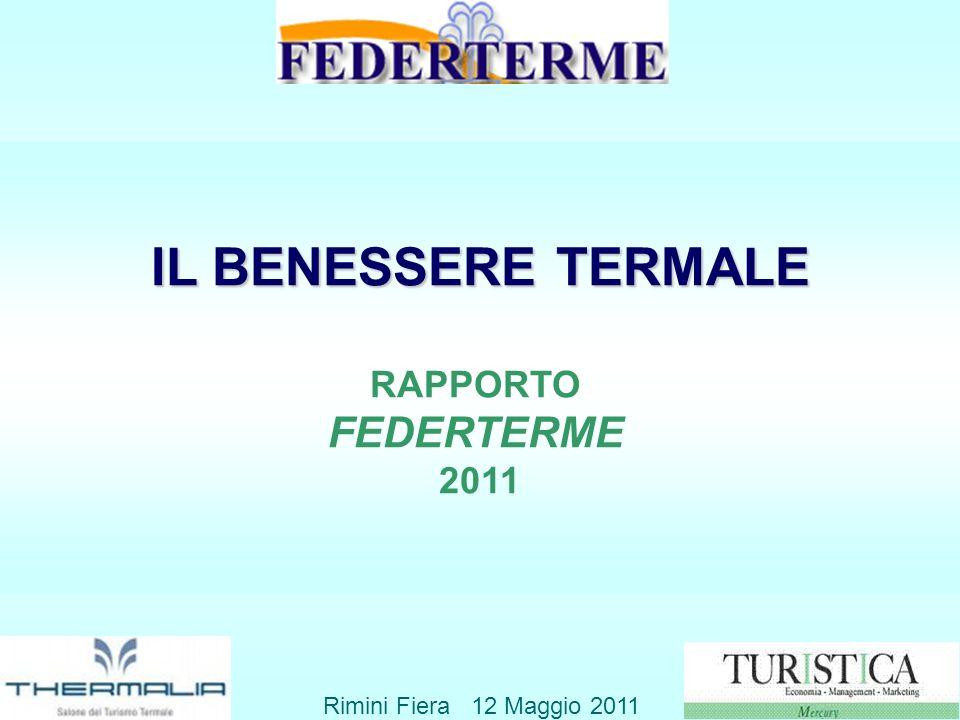 IL BENESSERE TERMALE FEDERTERME RAPPORTO 2011